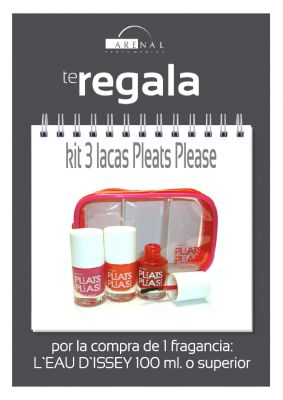REGALO* KIT 3 LACAS PLEATS PLEASE