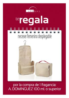 REGALO* NECESER DESPLEGABLE AD FEMENINO