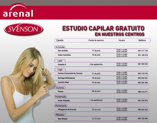ESTUDIO CAPILAR GRATUITO SVENSON JULIO/SEPTIEMBRE 2014