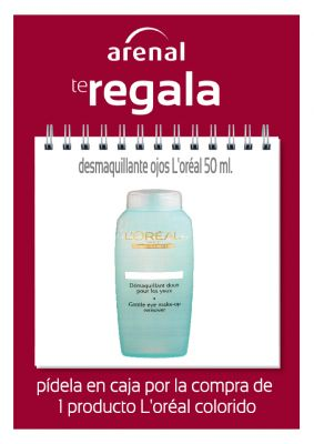 Regalo desmaquillante L'oréal 50 ml.