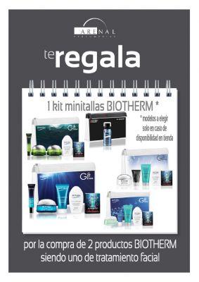 Regalo kit minitallas Biotherm + neceser transparente.