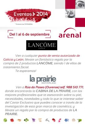Eventos alta perfumería, 1-6 septiembre.