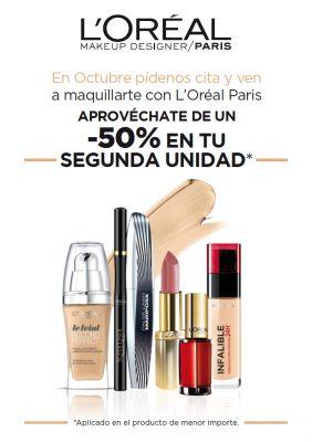 En octubre maquillaje gratis con L'oréal