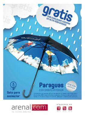 Gratis paraguas por cualquier compra en alta perfumería.