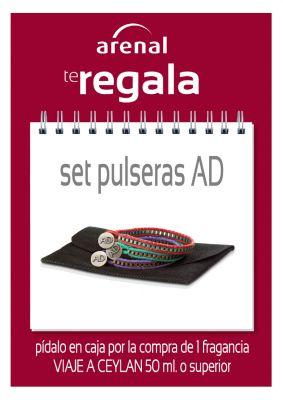 Regalo set pulseras Adolfo Dominguez.