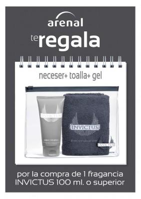 Regalo neceser Invictus + gel + toalla.