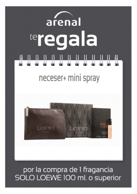 Regalo neceser + mini spray Loewe.