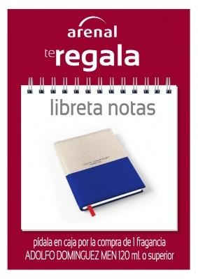 Regalo libreta notas Adolfo Dominguez.