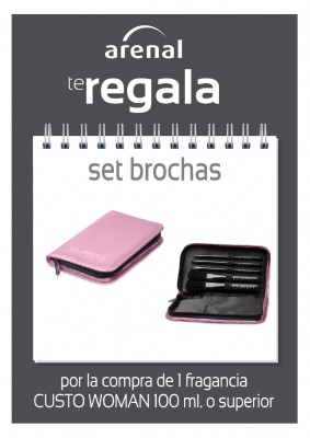 Regalo set brochas Custo.