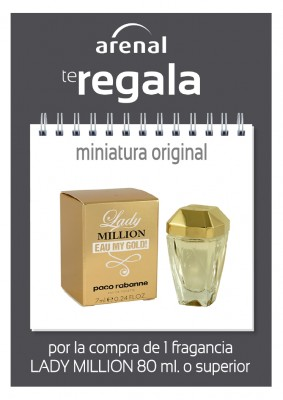 Regalo miniatura Lady Million.