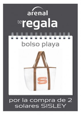 Regalo bolso playa Sisley.