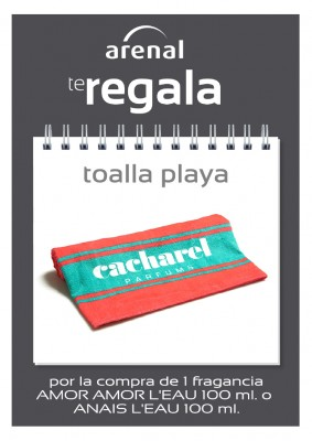 Regalo toalla playa Cacharel.