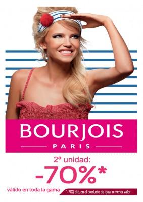 Bourjois 2ª unidad: -70%.
