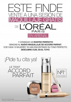 Sesión de maquillaje gratis con L'oréal.