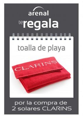 Regalo toalla playa Clarins.