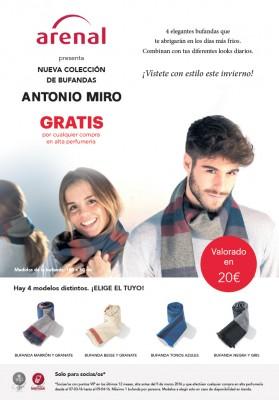 Bufanda Antonio Miró gratis!!