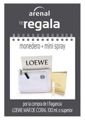 Regalo monedero + mini spray Loewe.