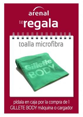 Regalo toalla microfibra.