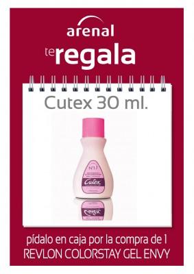 Regalo quitaesmalte Cutex 30 ml.