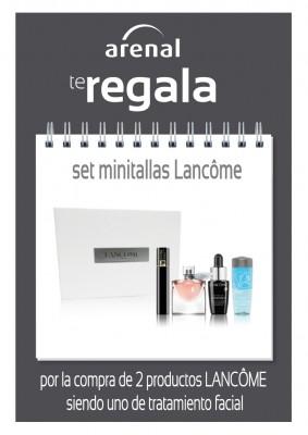 Regalo set 4 minitallas Lancôme.