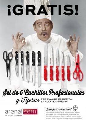 Set 5 cuchillos + tijeras gratis!!