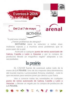 Eventos alta perfumería del 2 al 7 de mayo.