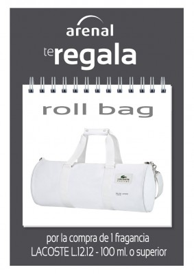 Regalo roll bag Lacoste.
