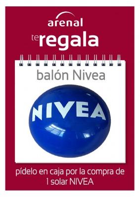 Regalo balón Nivea.