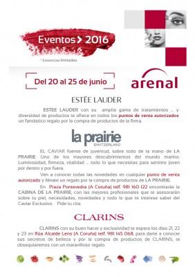 Eventos alta perfumería del 20 al 25 de junio.