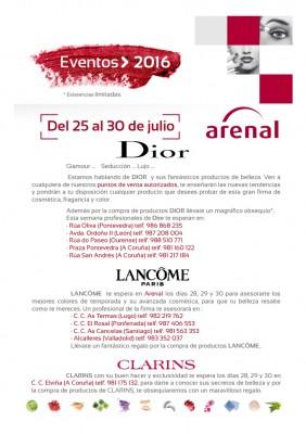 Eventos alta perfumería del 25 al 30 de julio.