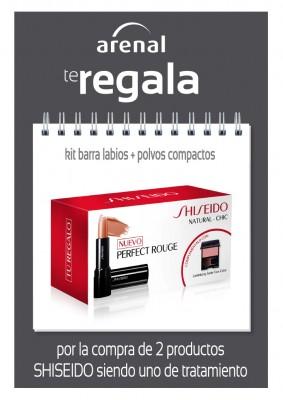 Regalo barra labios + polvos compactos Shiseido.