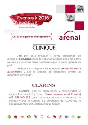 Eventos alta perfumería del 29 de agosto al 3 de septiembre.