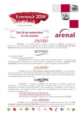 Eventos alta perfumería del 26 de septiembre al 1 de octubre.