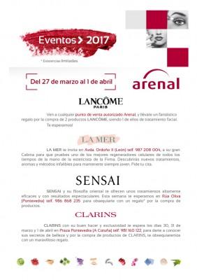 Eventos alta perfumería del 27 de marzo al 1 de abril.