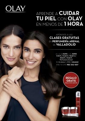 Clases gratuitas del cuidado de la piel Olay Valladolid: regalo solo por asistir.