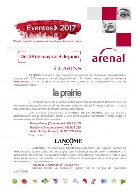 Eventos alta perfumería del 29 de mayo  al 3 de junio.