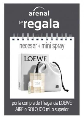 Regalo neceser + mini spray Loewe.