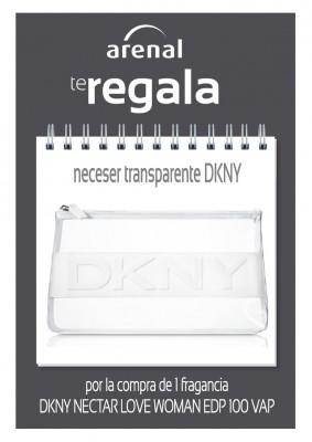 Regalo neceser transparente DKNY.