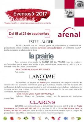 Eventos alta perfumería del 18 al 23 de septiembre.