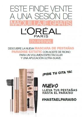 Maquillaje gratis con L'oréal: descubre la nueva MÁSCARA PARADISE.