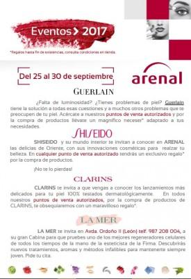 Eventos alta perfumería del 25 al 30 de septiembre.