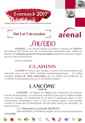 Eventos alta perfumería del 2 al 7 de octubre.
