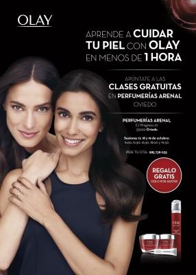 Talleres gratuitos del cuidado de la piel Olay Oviedo: regalo solo por asistir.