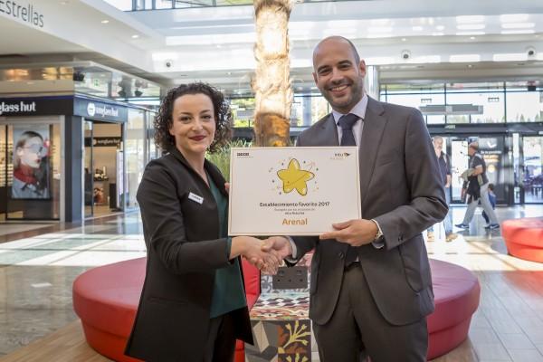 🎉🎉Arenal gana el premio al establecimiento favorito del C.C. Intu Asturias, escogido por los visitantes.🎉🎉