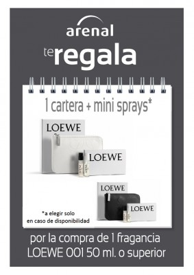 Regalo cartera Loewe + mini sprays.