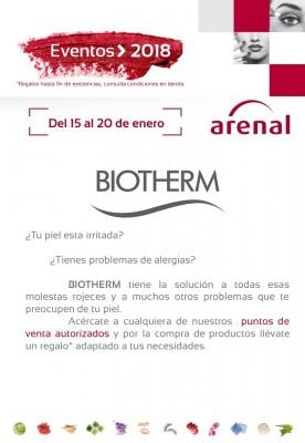 Eventos alta perfumería del 15 al 20 de enero: Biotherm