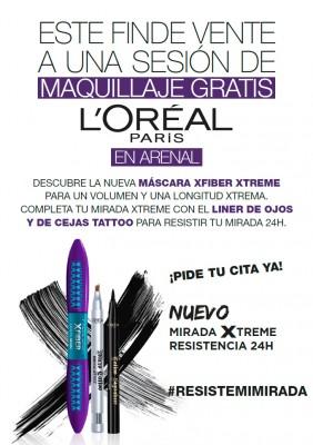 Maquillaje gratis con L'oréal: días 2-3,y 9-10 febrero.