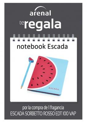 Regalo notebook Escada