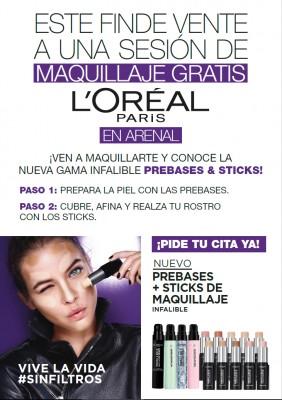 😍 Maquillaje gratis con L'oréal: días 2-3 y 9-10 marzo 🎨