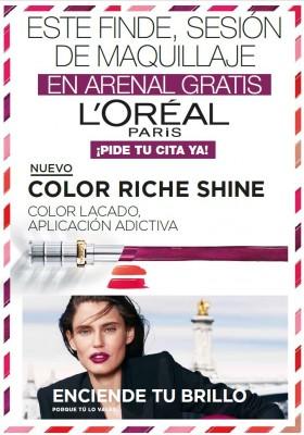 Maquillaje gratis con L'oréal: días 16-17 y 23-24 marzo.